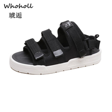 Whoholl Brand Women Sandals 2019 New Fashion Ladies Casual Shoes Bling Wedges Buckle Strap Platform 5 CM Summer 40