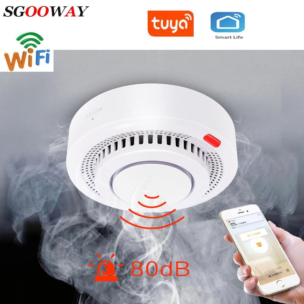 Tuya WiFi Smoke Alarm Fire Protection Smoke Detector Smoke House Combination Fire Alarm Home Security System Fire