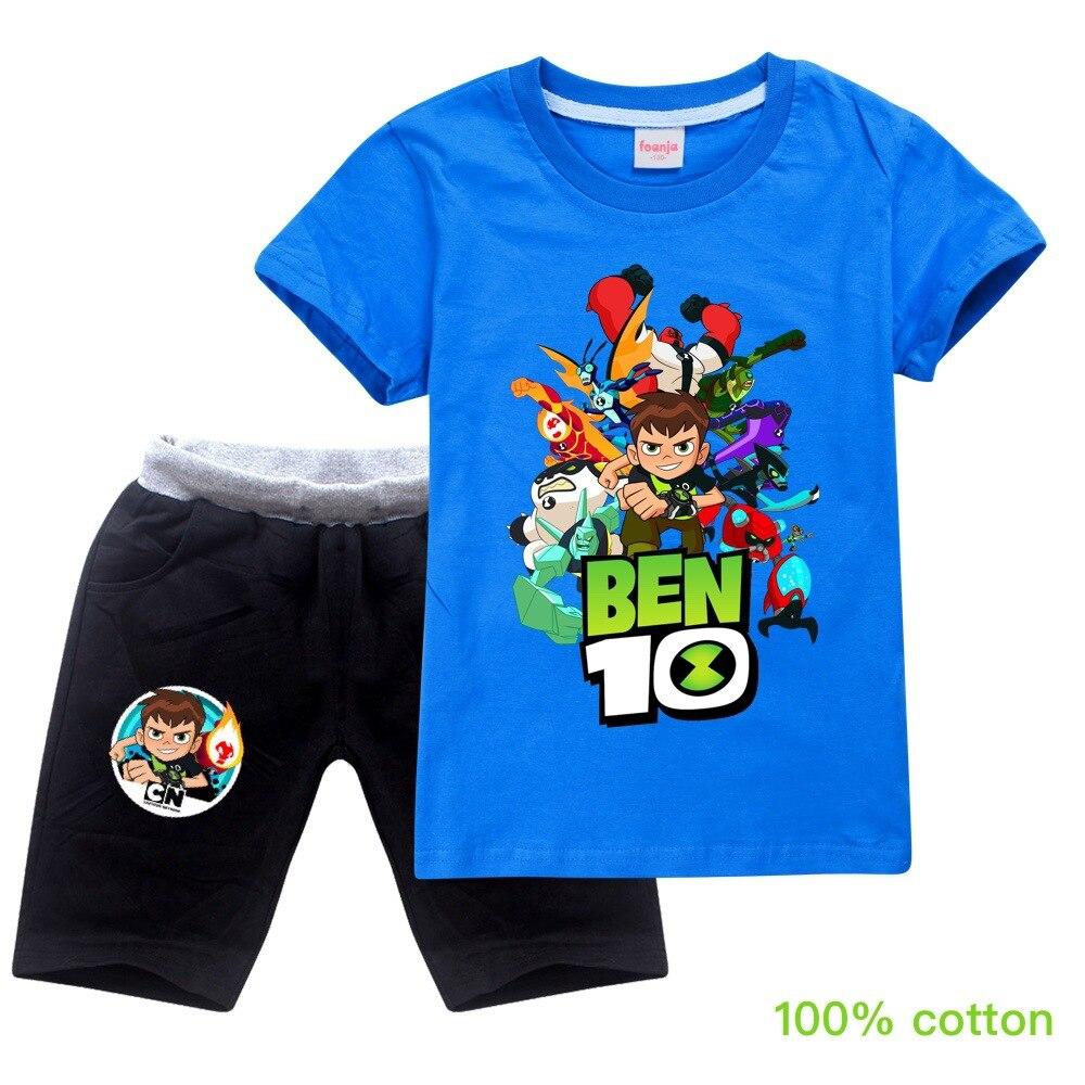 ben10 2019 Summer autumn Boys Pajamas Suits Short Sleeve Kids Pijama Children Pyjama Sets Boys Sleepwear bottom Clothing Unisex 2