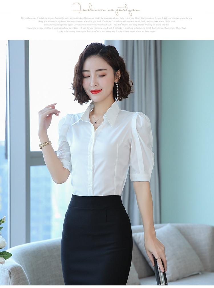 Blusa coreana feminina branca tamanho grande, decote