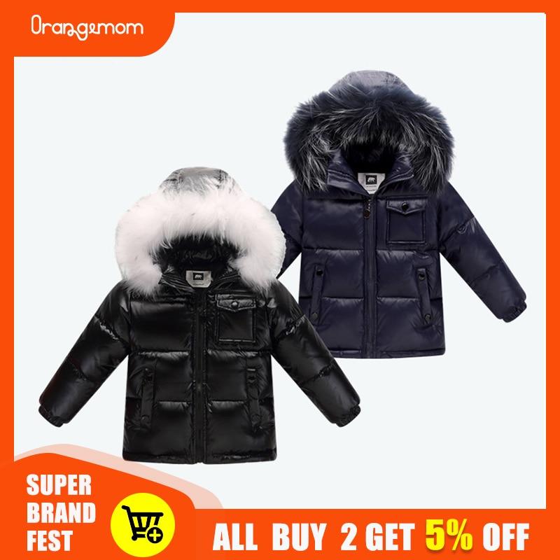 2020 winter jacket parka for boys winter coat , 90% down girls jackets children's clothing snow wear kids outerwear boy clothes