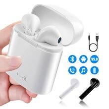 i7s tws Headphones Bluetooth 5.0 Earphones Wireless Headsets Stereo Bass Earbuds In-ear Sport Waterproof Headphone free shipping
