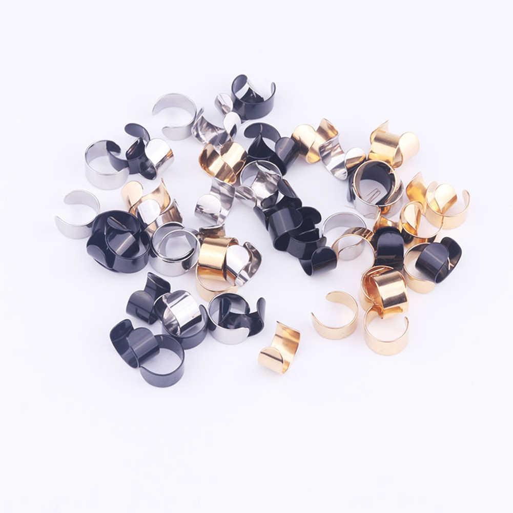 2 Pcs/1 Pasang Punk Rock Telinga Anting-Anting Fashion Wanita Klip Manset Wrap Tidak Piercing-Klip Pada Wanita perhiasan Aksesoris