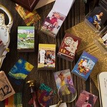 50 pçs/livro do vintage europeu poster adesivos decorativos scrapbooking diy vara etiqueta diário papelaria álbum diário adesivos
