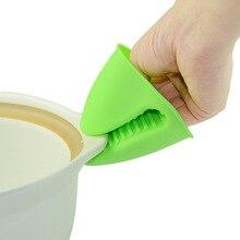 Добавьте жизнь силиконовые предотвращающие ожоги перчатки 2 шт./компл. микроволновые печи термостойкие перчатки утолщаются с защитой от ожогов Кухня силиконовый горшок зажим