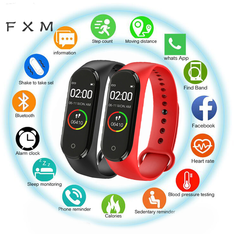 Blood-Pressure-Heart-Rate-Monitor Bracelet Watch Men Smart-Sports Hot Waterproof M4 Women