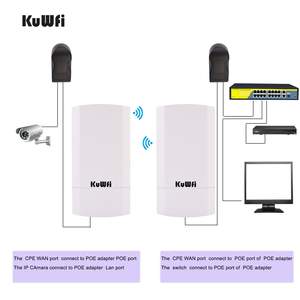 Image 3 - Kuwfi Router 1Km 300Mbps Draadloze Router Outdoor & Indoor Cpe Router Kit Wireless Bridge Wifi Repeater Ondersteuning Wds long Range