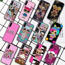 LOL Cute Cartoon Doll Girl Phone Case For Samsung Galaxy A7 9 8 10 20 20e 21 S 30 30S 31 41 50 50S 51 70 71 91 black Cell Pretty