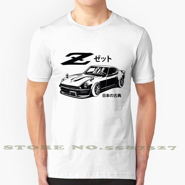 Zetto preto verão engraçado t camisa para homens mulheres nissan datsun zetto 240z 260z 280z carro clássico japonês japão carro cultura