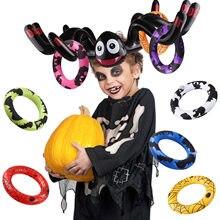 Behogar-Juego de anillo de Halloween, gorra de araña inflable con 8 anillos y 1 inflador, Fiesta EN LA Piscina de natación para fiesta de Halloween