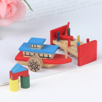 1:12 Cute Dollhouse Children's Toy Three Piece Set Dolls Miniature Decoration Pretend Play Toy For Kids 1