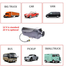 Silencer induction 12v 5kw heater webasto diesel heater for diesel with tank and LCD display , remote control parking heater