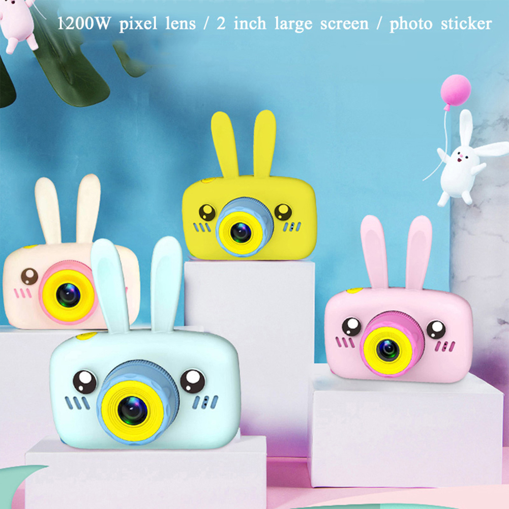 2-Inch Children's Cute 1200w Camera Toy Rechargeable Digital Camera Mini Screen Early Educational Outdoor Simple Bebe Toys Gifts