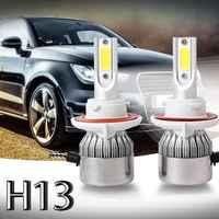 Neue 2 stücke C6 LED Auto Scheinwerfer Kit COB H13 36W 7600LM Weiß Glühbirnen