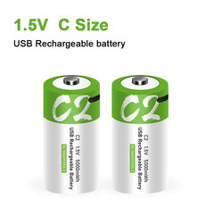 NEW Size C 1.5V 5000mWh Universal Micro USB Charging Batteries Rechargeable Battery Charged Lipo Lithium Polymer battery