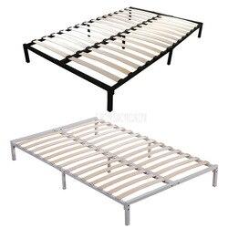 1.8*2m żelaza metalowa rama łóżka Bedstead prosty demontaż wynajem pokój drewna wiersz Bedstead dla domu/hotelu/pojedyncze dormitorium apartament na