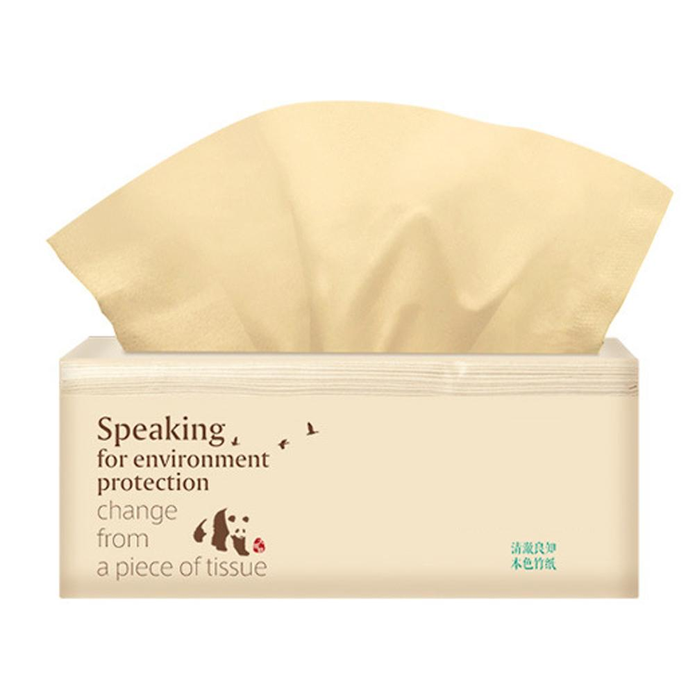 150PCS Facial Tissue Degradable Natural Silky Smooth Soft 3Ply Tissue Paper For Bathroom Kitchen Home Bamboo Fiber Tissue Paper