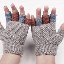 Gloves Winter Fingerless Fashion Mittens Flip-Top Convertible Girls Sweet Kids Boys Children