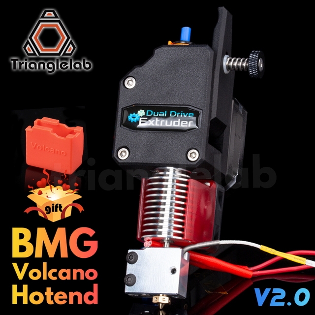 Trianglelab extrudeuse volcan HOTEND MK8 Bowden, double extrudeuse pour imprimante 3d, haute performance, impression I3