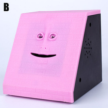 HOT Face Money Eating Coin Bank Battery Powered Saving Box Kids Toys Gifts TI99 cheap Other 222814 Eco-Friendly Stocked
