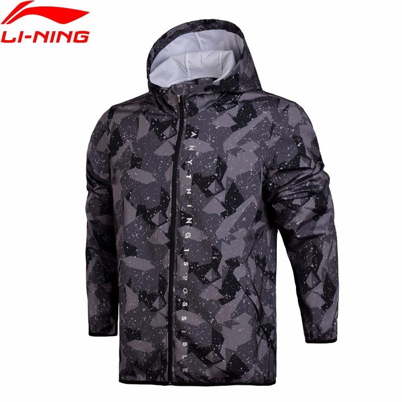(Break Code)Li-Ning Men The Trend Hooded Windbreaker Regular Fit Hoodie Quick Dry Waterproof LiNing Li Ning Coat AFDN003 MWF357