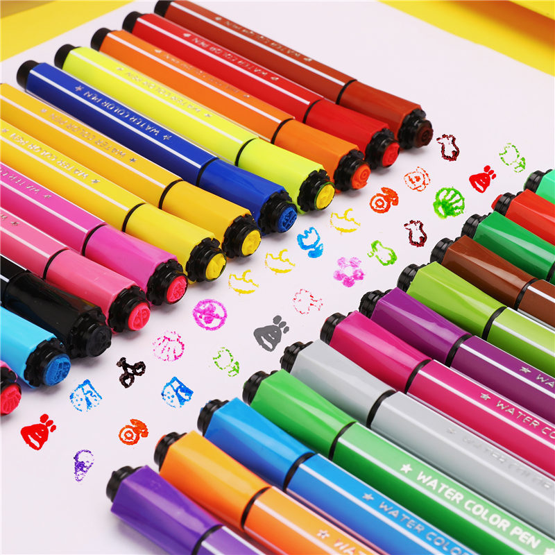 12/18/24/36 Colors Marker Pens Watercolor Seal Brush Pen Drawing Art Supplies Back To School Markery Stationery Kids Gifts 04374