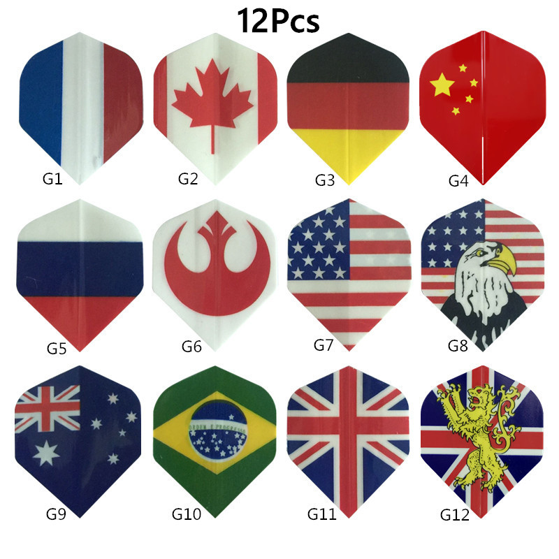 12 Pcs Darts Wing 4.4*3.6 Cm Universal Throwing Darts Flights Tails Set For Outdoor Game