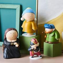 Figurine per artisti in resina accessori per la decorazione della casa decorazione per scrivania modello di personaggio dei cartoni animati decorazione nordica per soggiorno