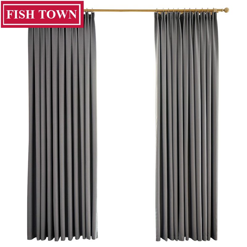 Fish Town Modern Blackout Curtains For Living Room Curtains Drapes For Window Blinds Curtains For Livingroom Bedroom Custom Made
