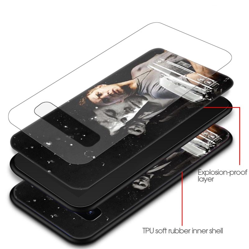 Supernatural Jared Padalecki Case for Samsung Galaxy S20 Ultra S10 5G S10e S8 S9 Plus Tempered Glass Black Coque Phone Cover
