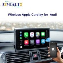 Joyeauto אלחוטי Apple Carplay לאאודי A1 A3 A4 A5 A6 A7 A8 Q3 Q5 Q7 C6 MMI 3G 2G RMC 2005  2018 iOS13 אנדרואיד מראה רכב לשחק