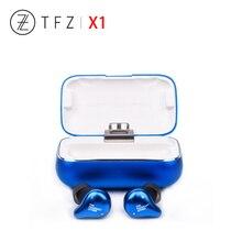 Tfz x1 x1e 블루투스 5.0 밸런스드 아마츄어 ipx7 방수 무선 hifi 이어폰, 화웨이 이어 버드 용 충전 박스 포함