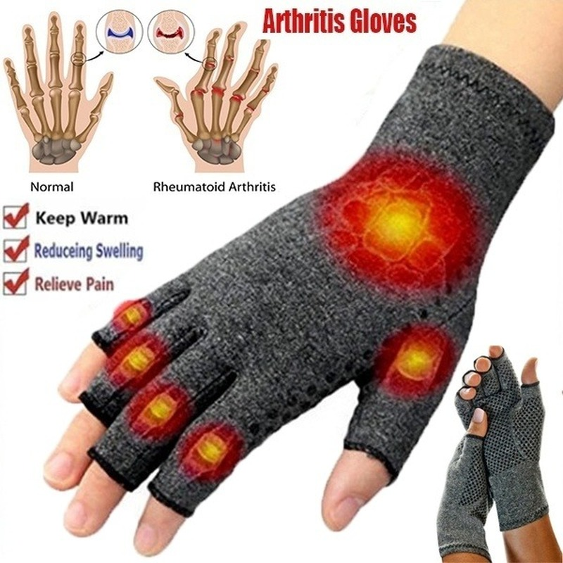 1 Pairs Arthritis Gloves Touch Screen Gloves Anti Arthritis Therapy Compression Gloves And Ache Pain Joint Relief Winter Warm