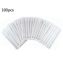 цены 100pcs Professional Medical Tattoo Needles Round Liner Magnum Shader Tattoo Supply + 100pcs Tattoo Needles Nozzles Set