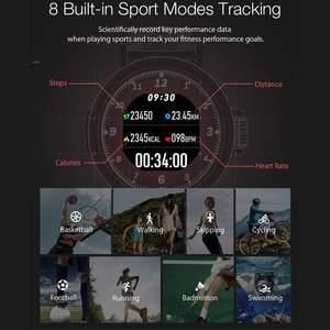 Image 2 - BlitzWolf BW AT1 Dello Schermo di Tocco Pieno Dymanic UI Display della Frequenza Cardiaca Misuratore di Pressione Sanguigna Monitor di Ossigeno Meteo Push Smart Watch Nero