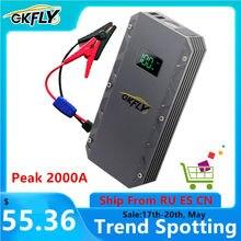 GKFLY-dispositif Portable de démarrage de voiture, 24000mAh, chargeur de batterie de véhicule, batterie externe a, haute puissance, 12V, LED a