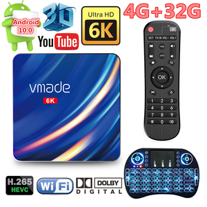Android 10.0 bluetooth caixa de tv 6k iptv 3d wifi 2.4g & 5g 4gb ram 32g play store muito rápido caixa superior receptor de tv