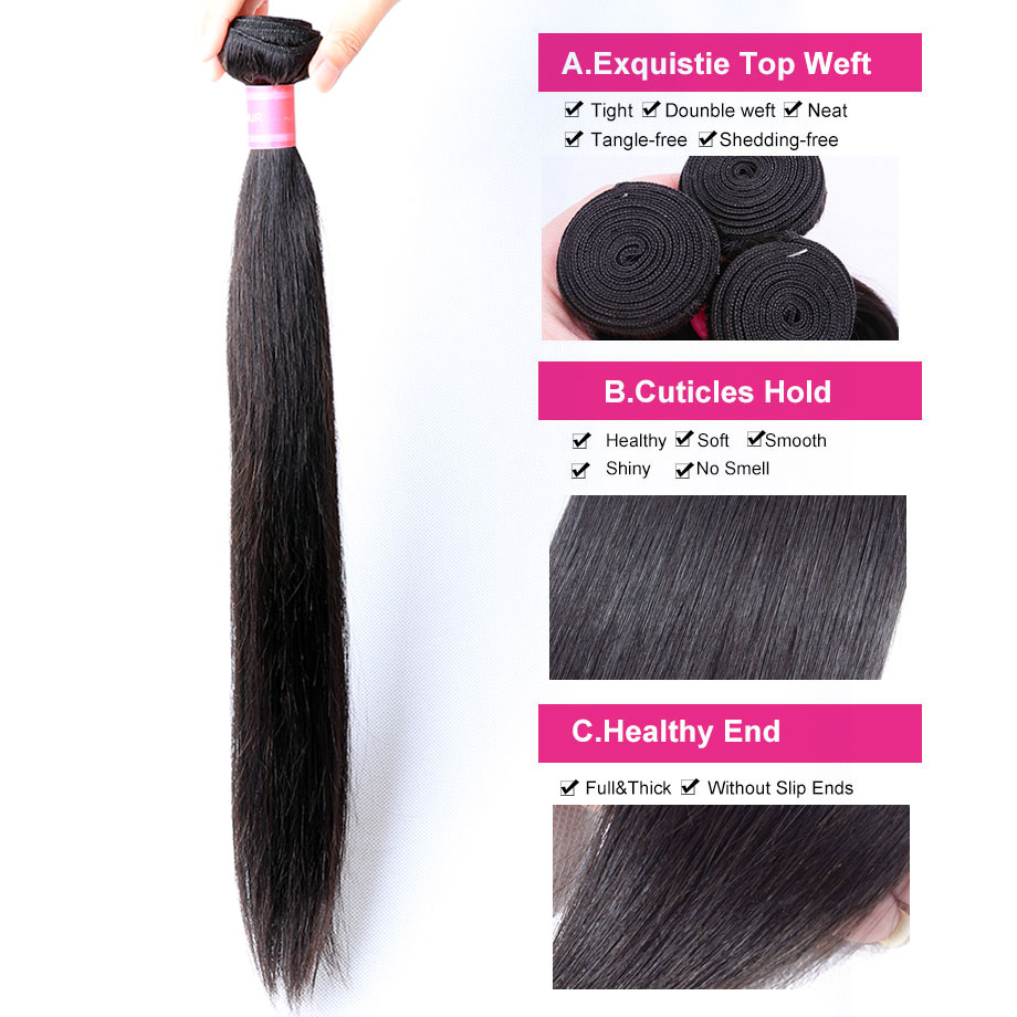 Hd4c3ed06c03641eda154ae7cd74f83fca [BY] Straight Hair Bundles With Closure Natural Human Hair 3 Bundles With Closure Brazilian Hair Weave Bundles 4x4 Swiss Lace