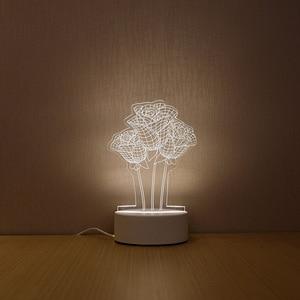 Image 4 - SOLOLANDOR 3D Đèn LED Sáng Tạo 3D LED Đèn Chiếu Sáng Ban Đêm Mới Lạ Ảo Ảnh Đèn Ngủ 3D Ảo Ảnh Đèn Bàn Cho Trang Trí Nhà ánh Sáng