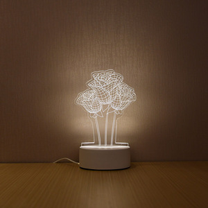 Image 4 - SOLOLANDOR Lámpara LED 3D creativa, luces de noche 3D, novedad, ilusión 3D, lámpara de mesa para luz decorativa de hogar