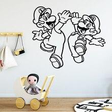 купить Modern Super Mario Wall Sticker Vinyl Decals For Kids Rooms Wallpaper Stickers Mural Kids Bedroom Wall Decal Poster дешево