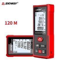 Sndway medidor de distância a laser, telêmetro roleta medida a laser 50m 70m 100m 120m régua medidor de distância digital localizador de alcance de fita
