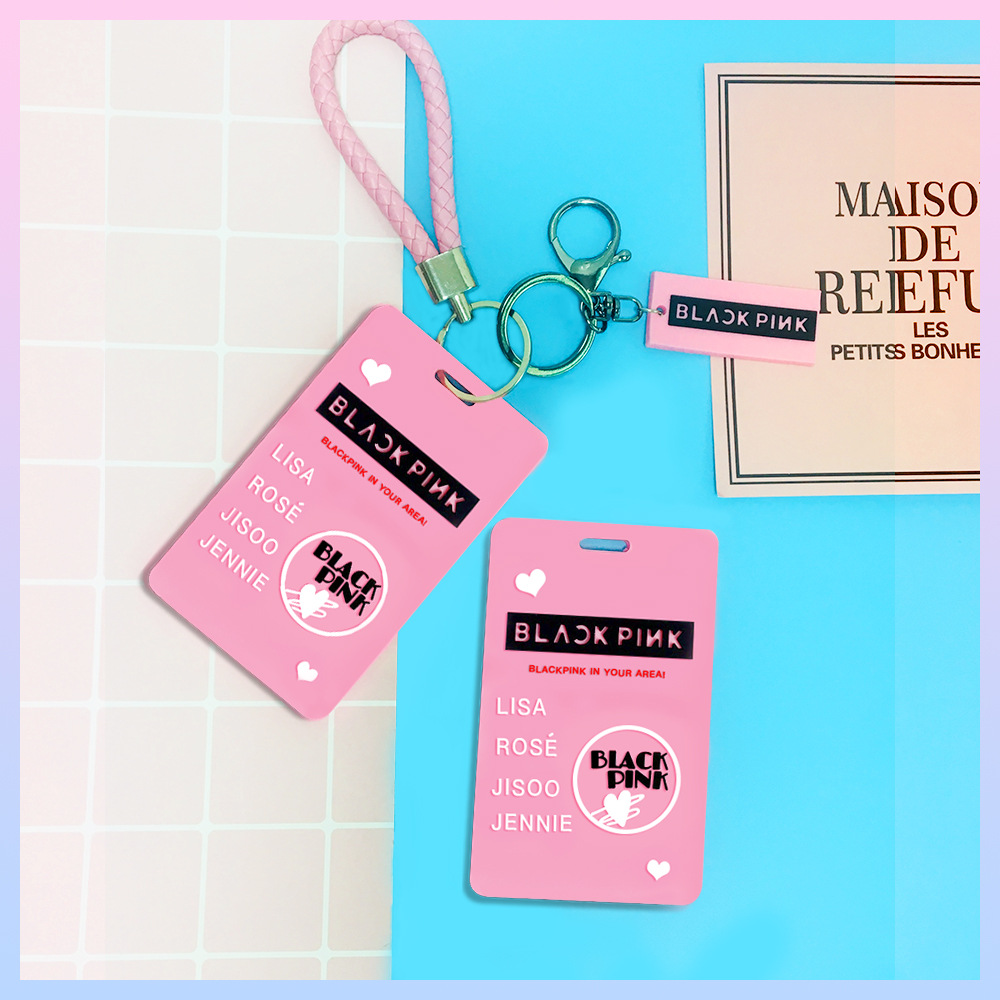 KPOP Blackpink Card Holder Key Chain Stationery Set For Fans Collection Blackpink Kpop