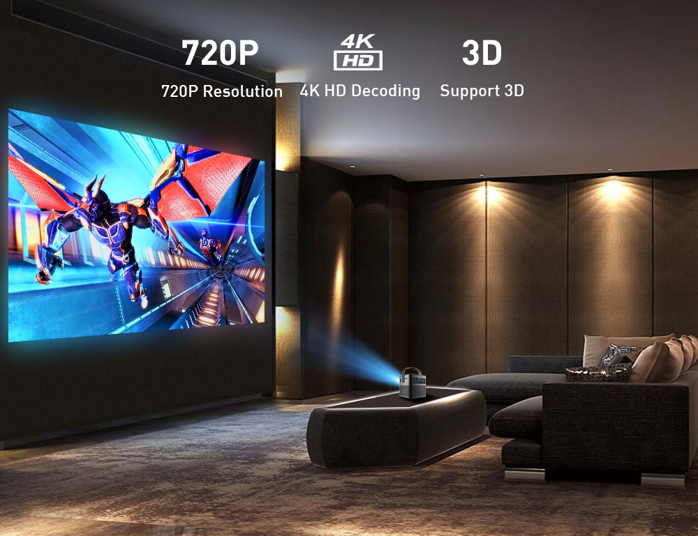 New Arrival WZATCO P12 3D 4K Projector Full HD 1080P Android WIFI HDMI USB DLP Smart Beamer Home Theater Portable Proyector 2