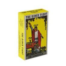 78 Uds cartas del Tarot inglés completo radiante jinete espera cartas del Tarot de fábrica de alta calidad Smith Tarot cubierta de tarjetas de juego