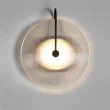 Post Modern LED Wall Light Mounted Glass Black Gold Wall Lamp Bedside Hotel Wall Light for Home Hotel Nordic Home Wall Lights