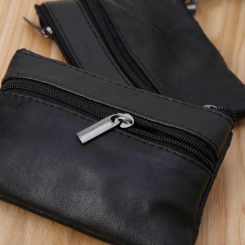Weiche Männer Frauen Karte Münze Schlüssel Halter Zip Leder Brieftasche Tasche Tasche Geldbörse Geschenk Neue