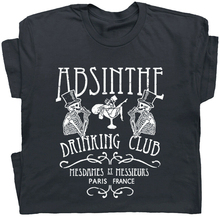 Absinthe T Shirt Paris France Graphic Tee Vintage Beer Drinking Shirts Fairy T Vintage Tee Shirt