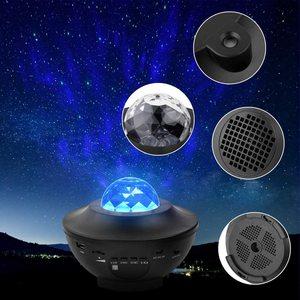 Image 3 - ZK20 Galaxy projecteur veilleuse étoilé océan vague projecteur romantique coloré étoilé USB commande vocale Bluetooth musique haut parleur