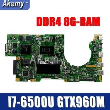 K501UW Laptop motherboard for ASUS K501UXM K501UQ K501U original mainboard DDR4 8G-RAM I7-6500U GTX960M